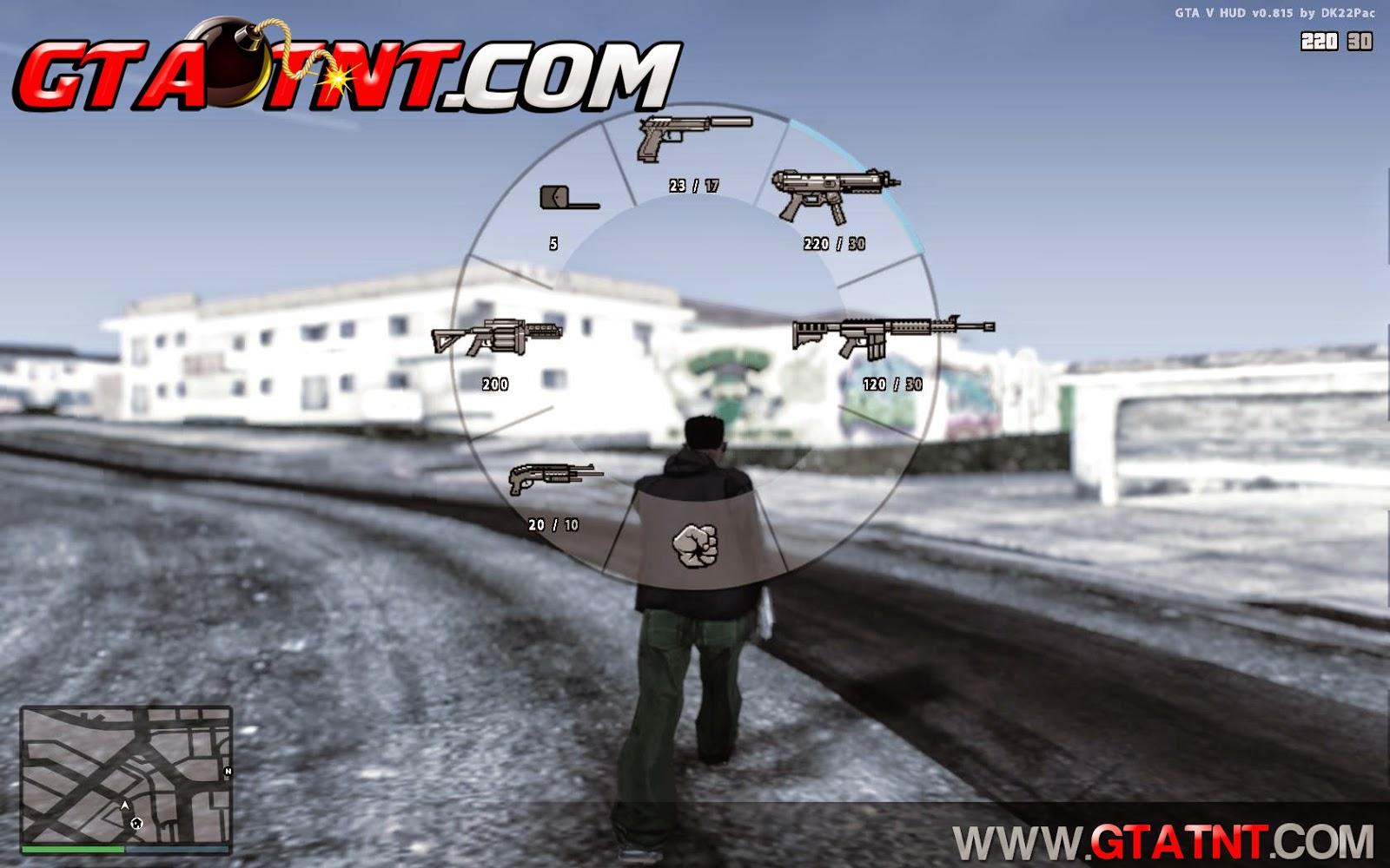 GTA SA - HUD + GPS + Menu de Armas + Troca de Personagem do GTA 5 Gta_sa%2B2014-09-03%2B11-17-14-44
