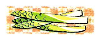 asparagus clip art digital