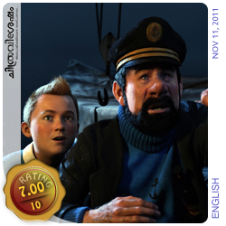 The Adventures of Tintin: The Secret of the Unicorn - A film by Steven Spielberg starring Jamie Bell, Andy Serkis, Simon Pegg, Nick Frost, Daniel Craig etc. Film Review by Haree for Chithravishesham.
