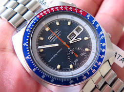 SEIKO CHRONOGRAPH POUGE BLACK DIAL PEPSI BEZEL WATER 70m PROOF - AUTOMATIC 6139 6002 - PART 3