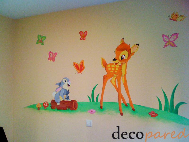 Decopared mural bambi y tambor - Mural pared infantil ...