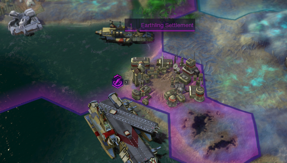 An Earthling Settlement. You must construct a minimum of four Earthling Settlements for a The Promised Land Victory.