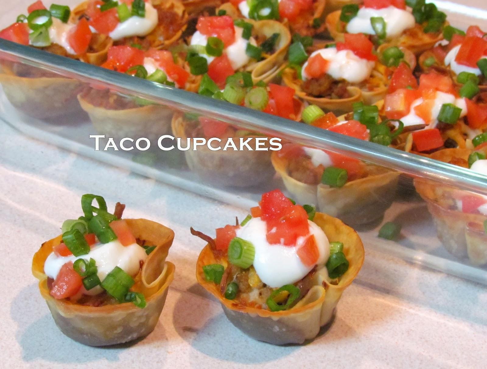 Getting Stuffed: Mini Taco Cupcakes