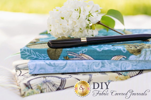 DIY Fabric Covered Journals | Shabby Fabrics
