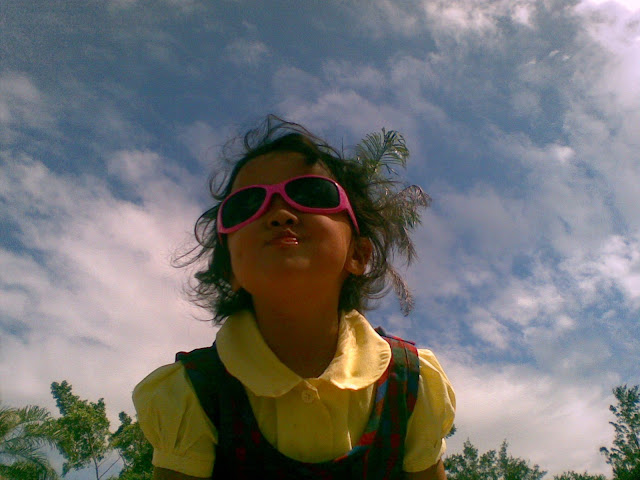 Kecil in her new sunglasses