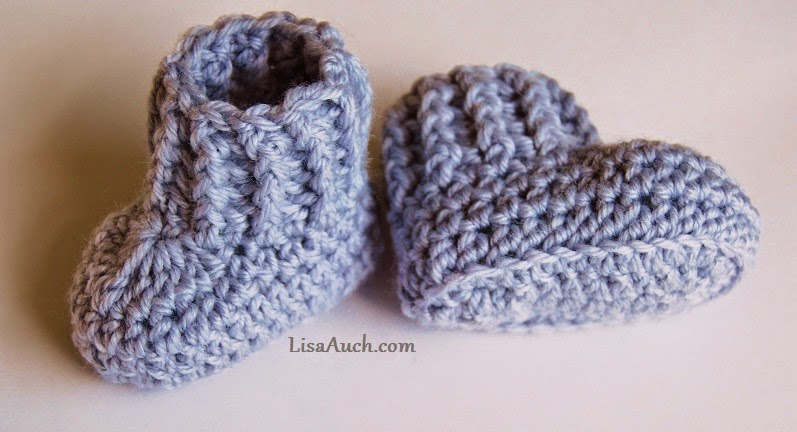 Crochet Baby Booties Pattern With Pictures : Easy Crochet Baby Booties Pattern