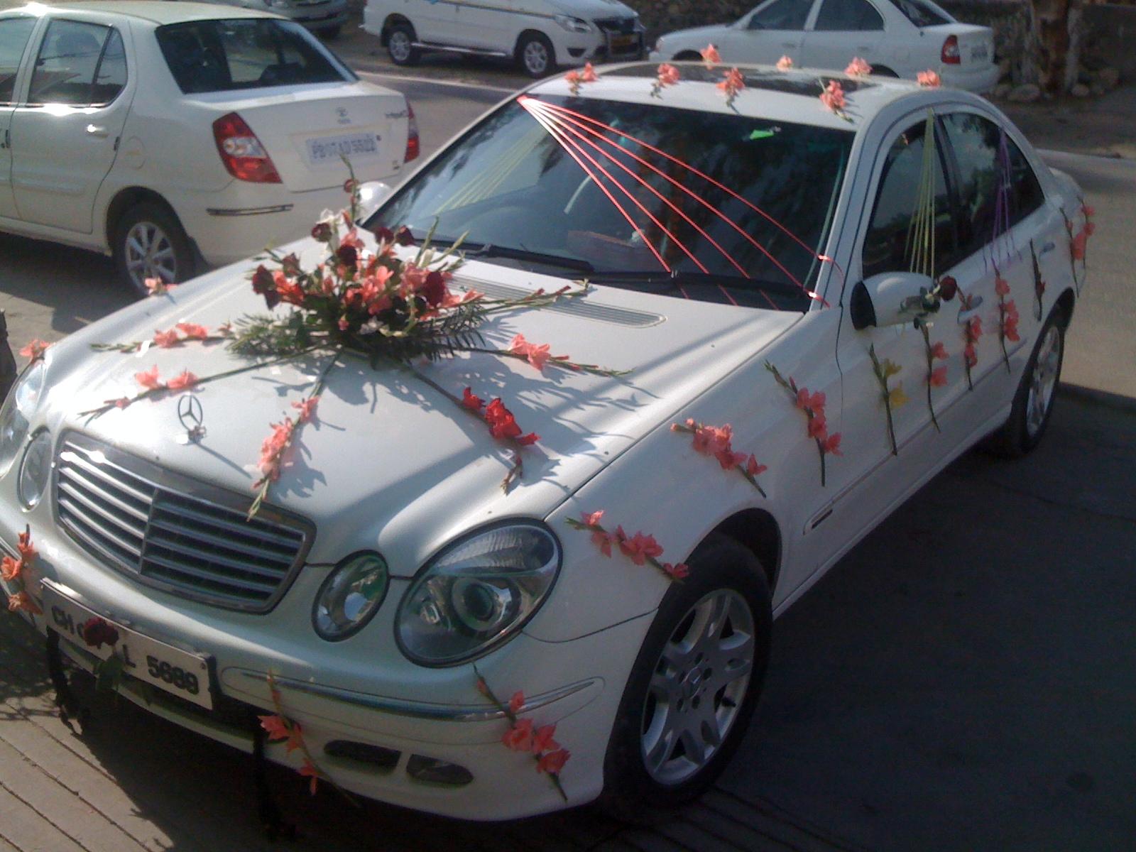 Some wedding day car decoration pics car rental punjab self drive wedding car chandigarh junglespirit Choice Image