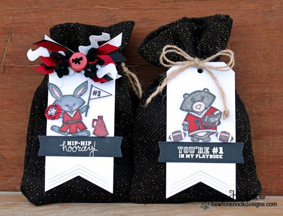 Football & Cheerleader Tags by Larissa Heskett | Touchdown Tails stamp set by Newton's Nook Designs #newtonsnook #football