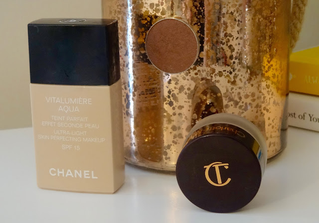 Chanel Vitalumiere Aqua, Makeup Geek Brown Sugar eyeshadow, Charlotte Tilbury Eyes to Mesmerise Bette
