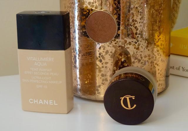Chanel Vitalumiere Aqua, Makeup Geek Brown Sugar eyeshadow, Charlotte Tilbury Eyes to Mesmerise Bette