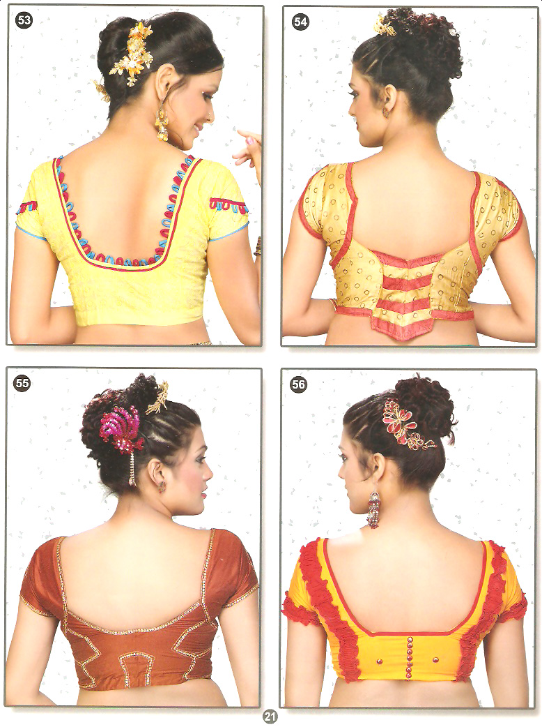 Latest Blouse Back Neck Designs Images, Anjali Blouse Back Design Pics