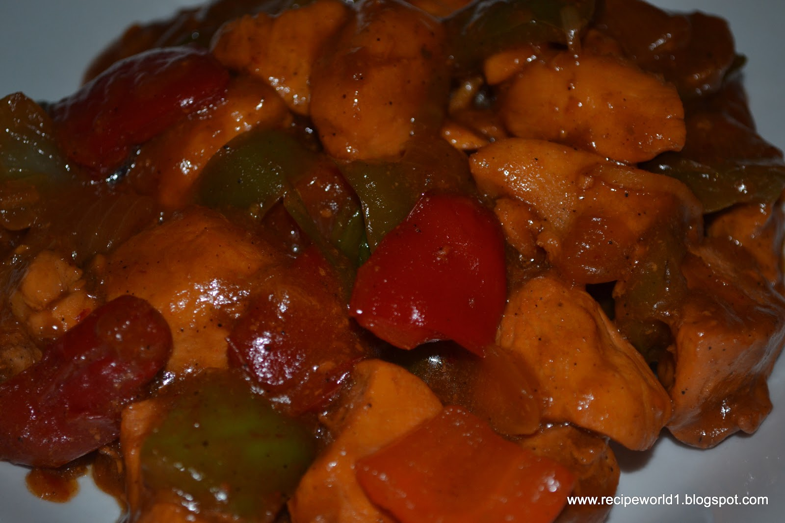 Spicy Bell Pepper Chicken