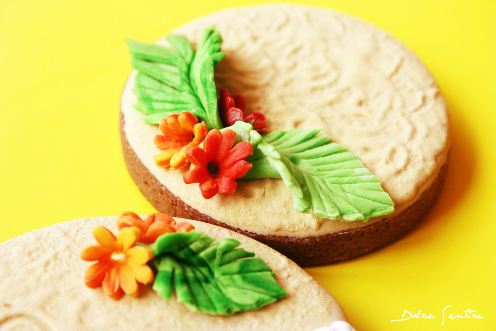 Un país en una galleta: Brasil {+Tutorial Galletas 'Efecto Playa' (Brush Embroidery)}