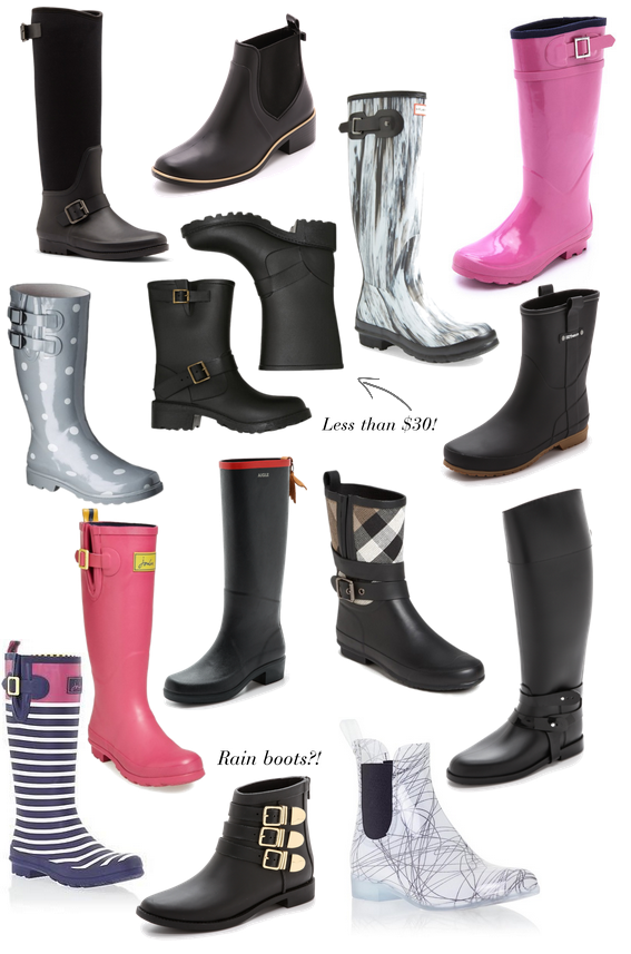 Rain boots to fit any style! Great alternatives to classic hunters!