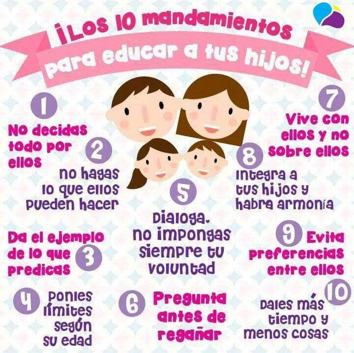 LOS 10 MANDAMIENTOS PARA EDUCAR A TUS HIJOS