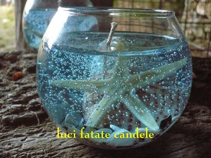 candele in cera gel
