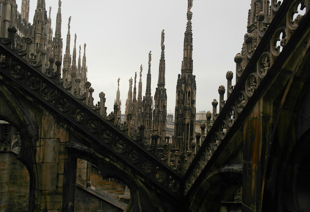 Rooftop view Duomo Cathedral Milan, Italy