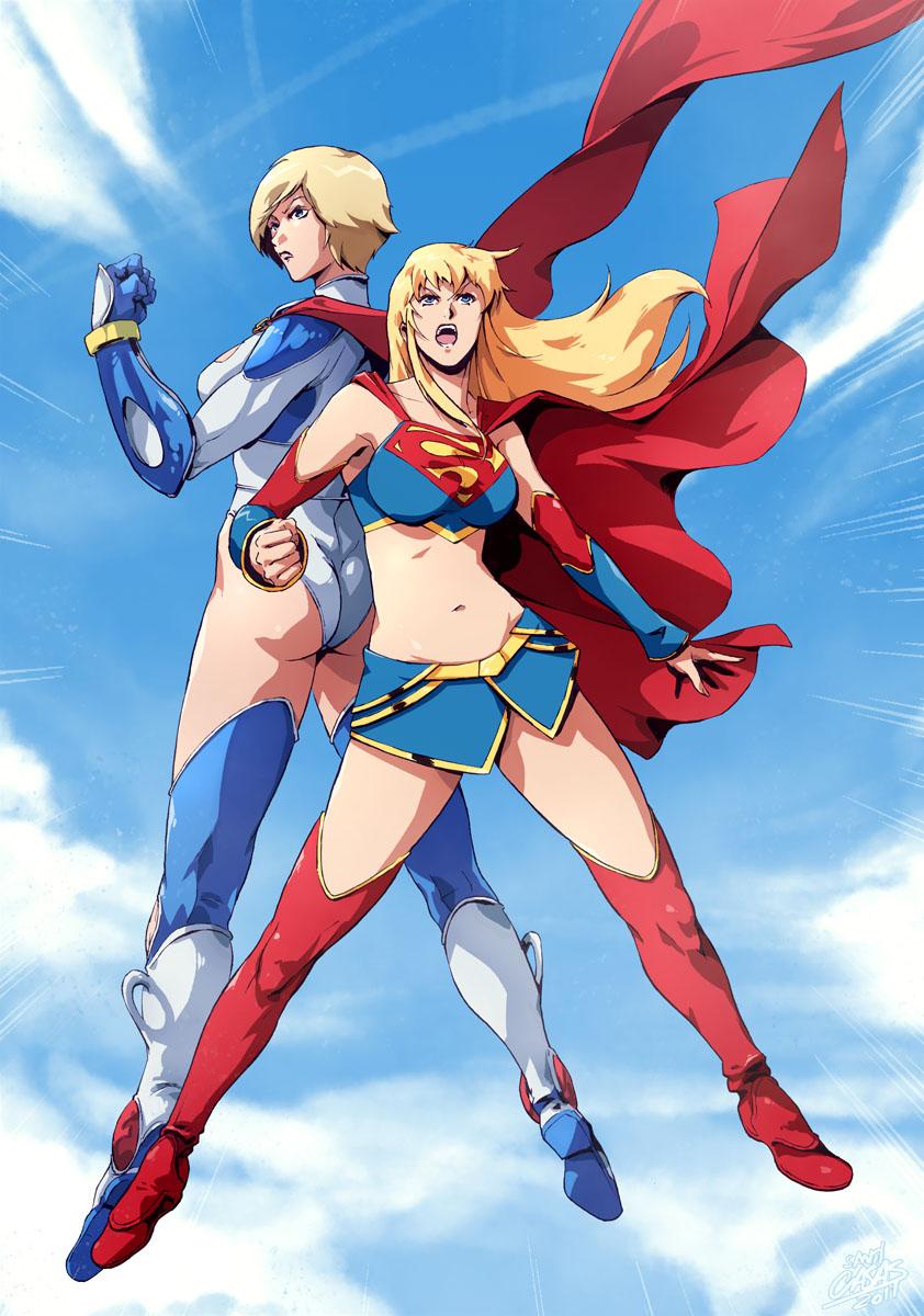 terra and powergirl kiss toon porn