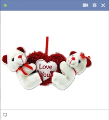 Hanging Love Teddys Emoticon