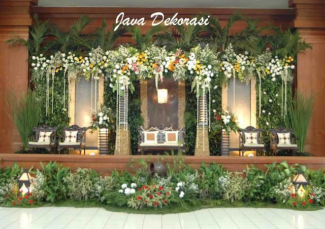 Contoh Dekorasi Pernikahan Pelaminan Minimalis Modern Tradisional Gebyok :