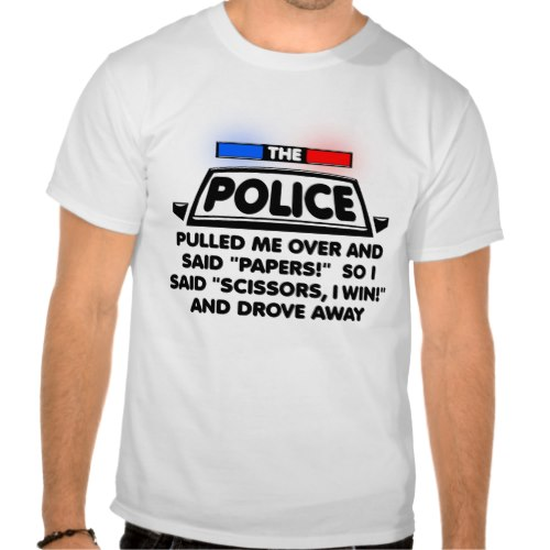 Police Papers Scissors | Funny T-Shirt