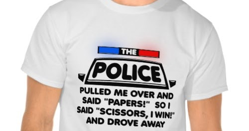 3b15e59b i Smiled You: Police Papers Scissors | Funny T-Shirt