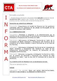 C.T.A. INFORMA, LO REALIZADO EN OCTUBRE 2017