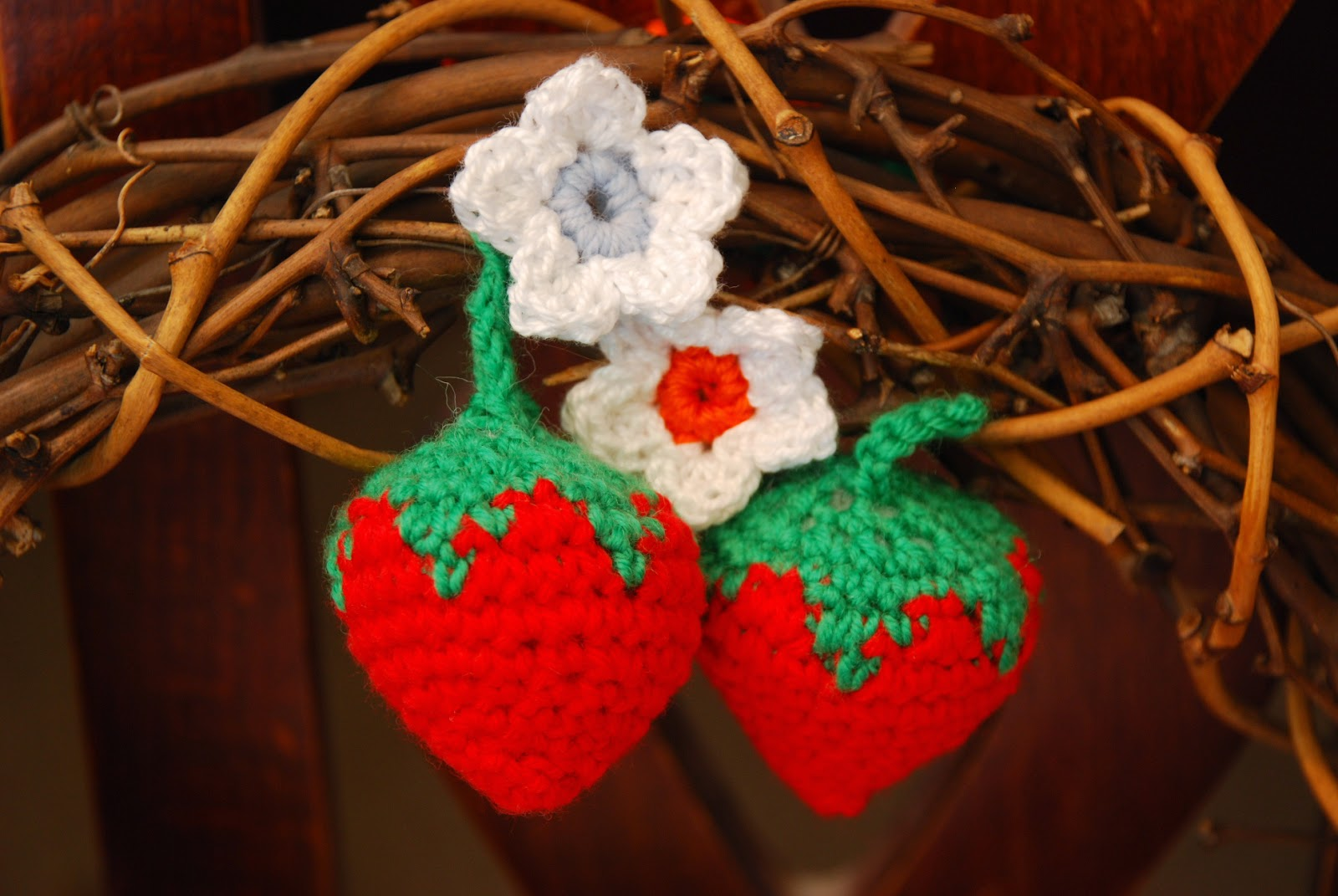 image of crochet strawberries