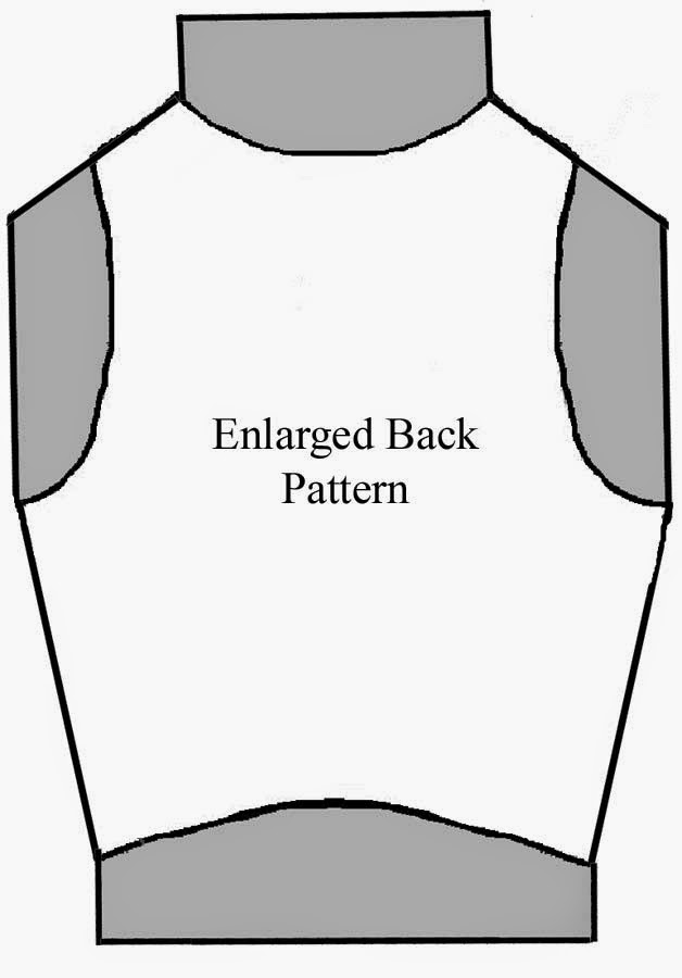 Pat Spark enlarged vest pattern back