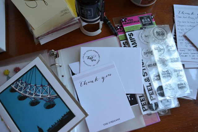 Organize your stationery with a binder via PSA Essentials