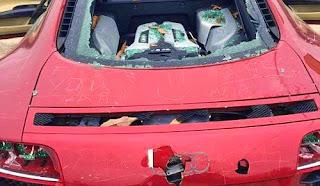 Padah Curang Habis Kereta Dihancurkan Isteri