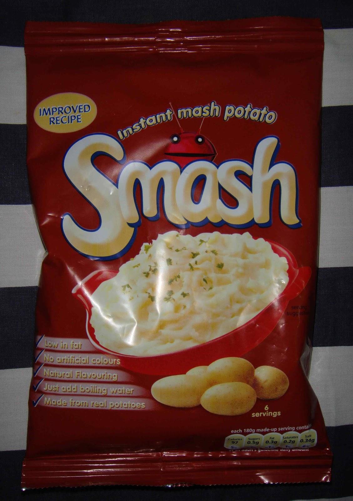 Supersupergirls Food Reviews Smash Instant Mashed Potato Makaroni Rasa Banana Taro