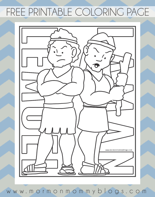 book of mormon coloring pages - photo#13