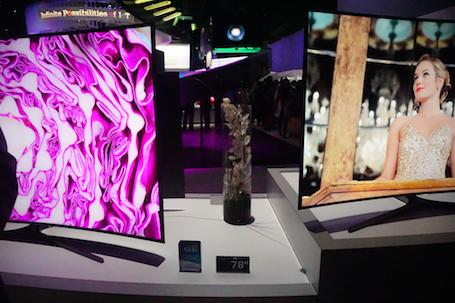 SUHD TV có độ hiển thị hình ảnh sắc nét hơn gấp 5 lần so với OLED TV.