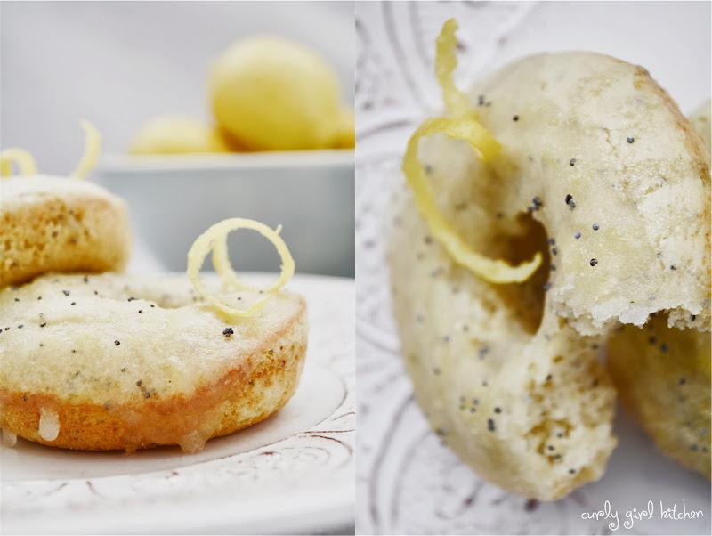 Curly Girl Kitchen: Lemon Poppyseed Cake Doughnuts