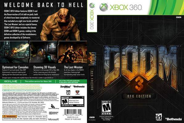 doom 3 bfg edition xbox 360 install