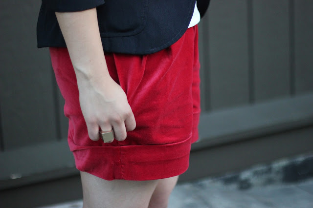 Erin Fetherston Red Shorts