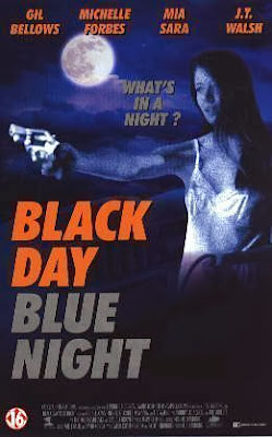 Mia Sara on Black Day Blue Night movie poster