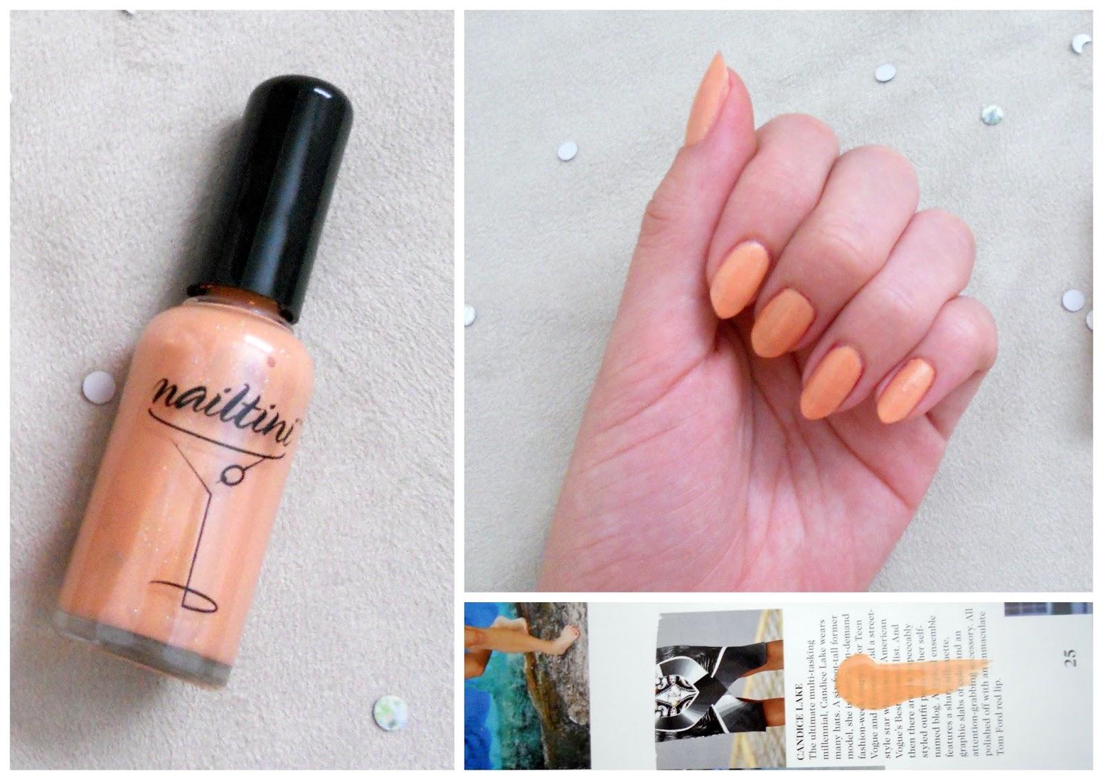 tini cosmetics nailtini polish in mango rita, review, summer manicure, fall transitioning nails