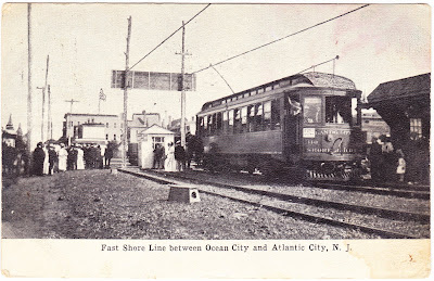 papergreat saturday s postcard new jersey trolley line