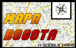 Mapa de Bogotá Colombia