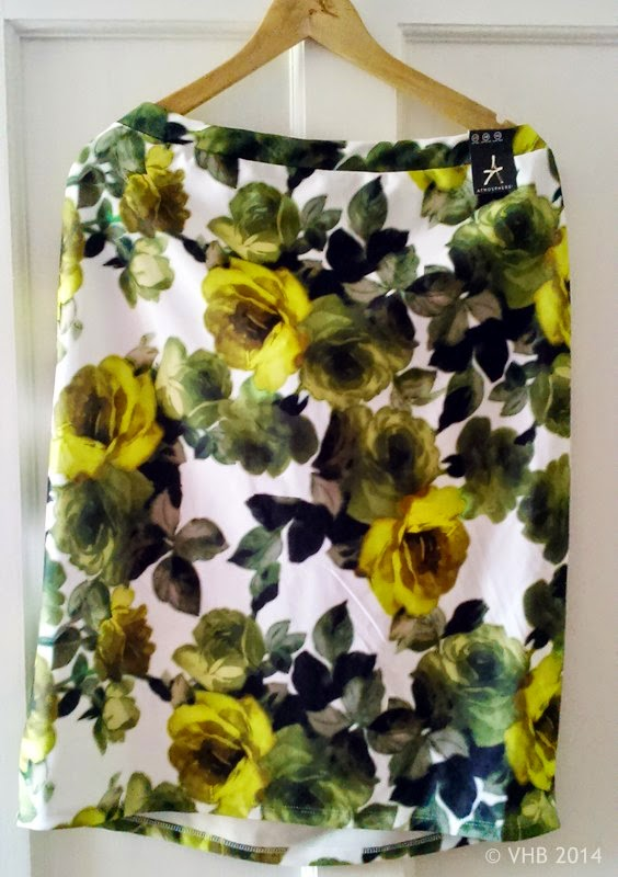 Printed Pencil Skirt - Size 20 - Primark