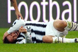 Del Piero asustó al cuerpo medico de la Juventus
