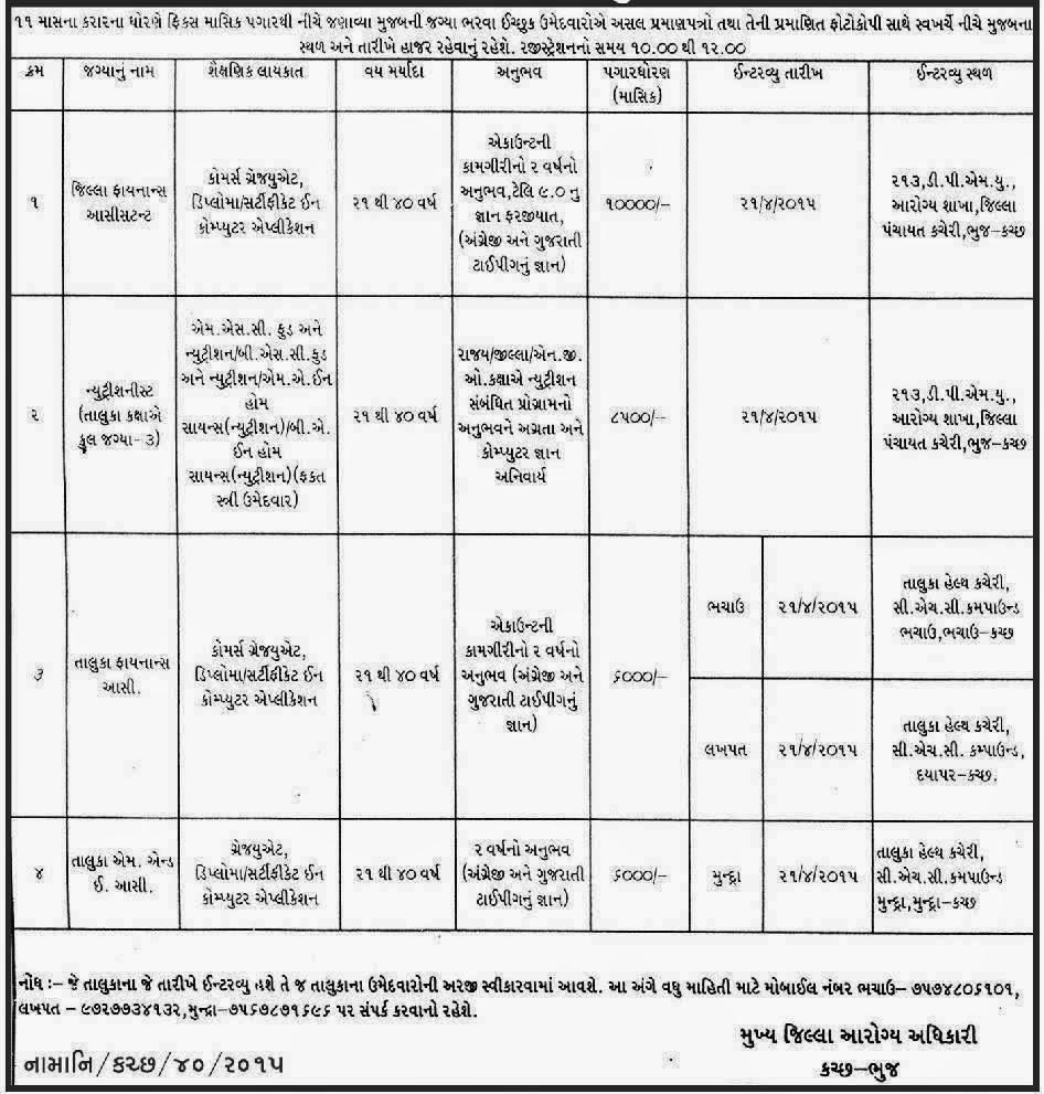 District Health Society, Kutchh - Bhuj