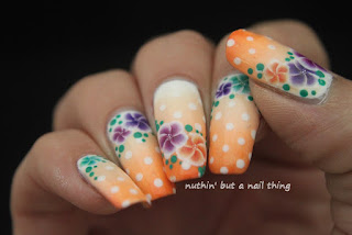 40 Great Nail Art Ideas: Orange, Purple and Green