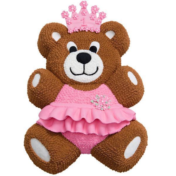 forma de bolo 3d urso rosa