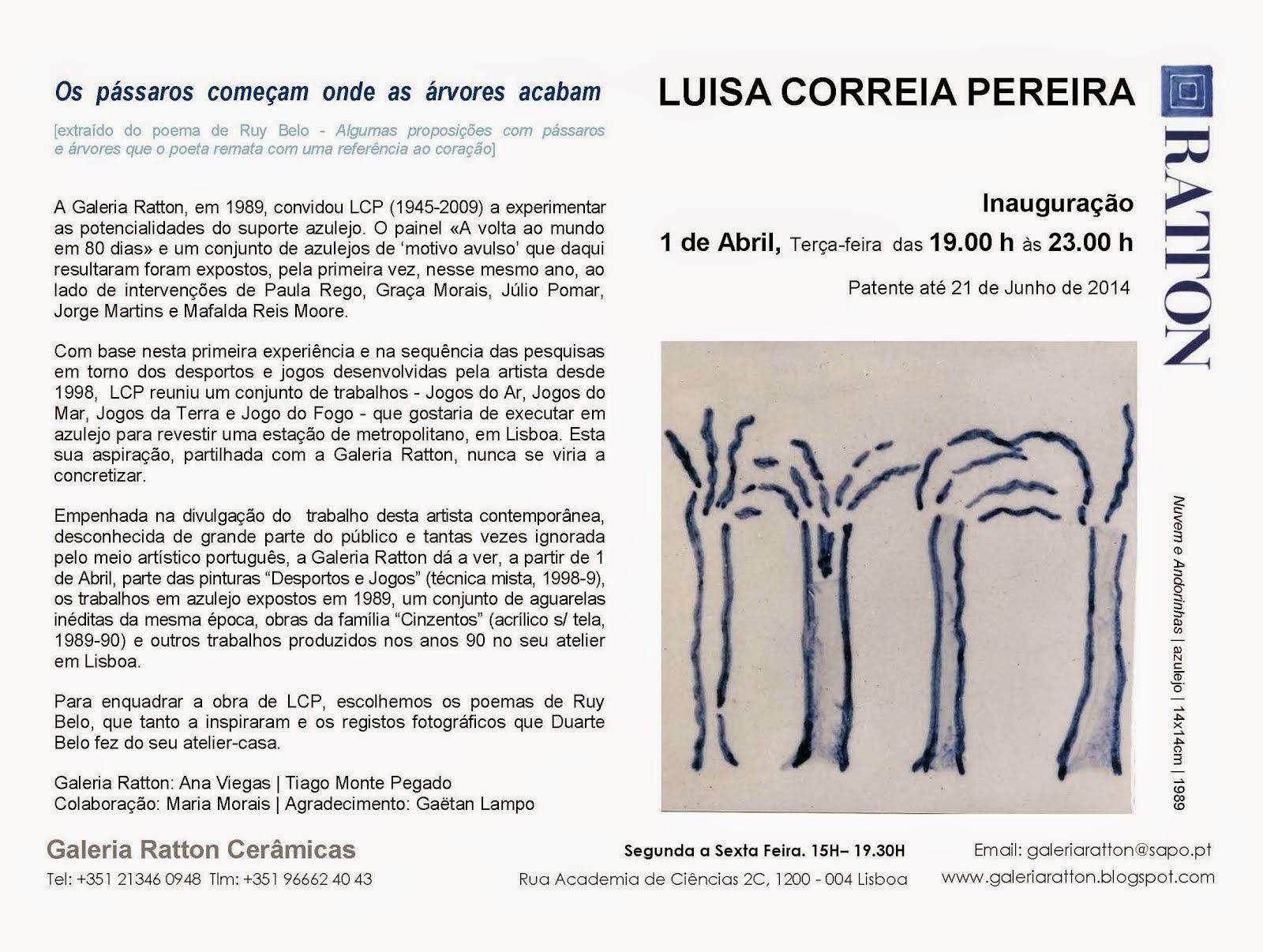 Luisa Correia Pereira . Abril 2014