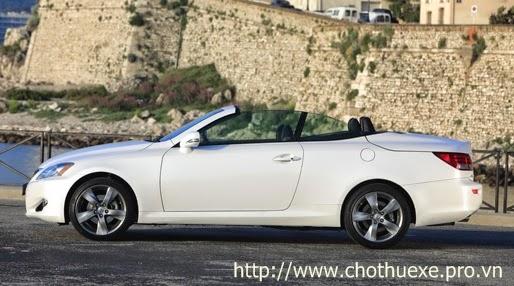 Cho thuê xe cưới mui trần Lexus IS250C màu trắng
