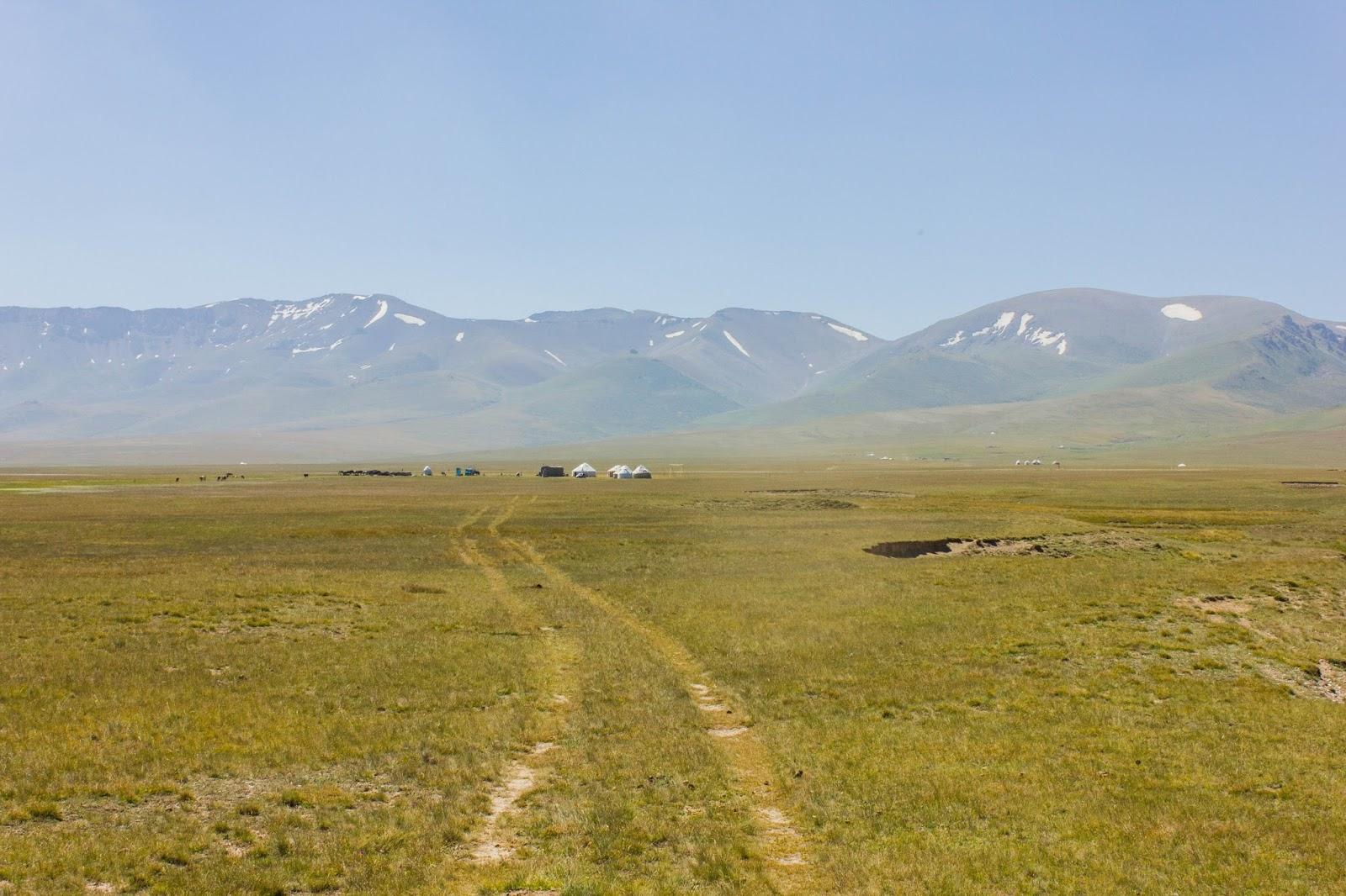 Кыргызские горы, Сон-куль, Юрты, Горы
