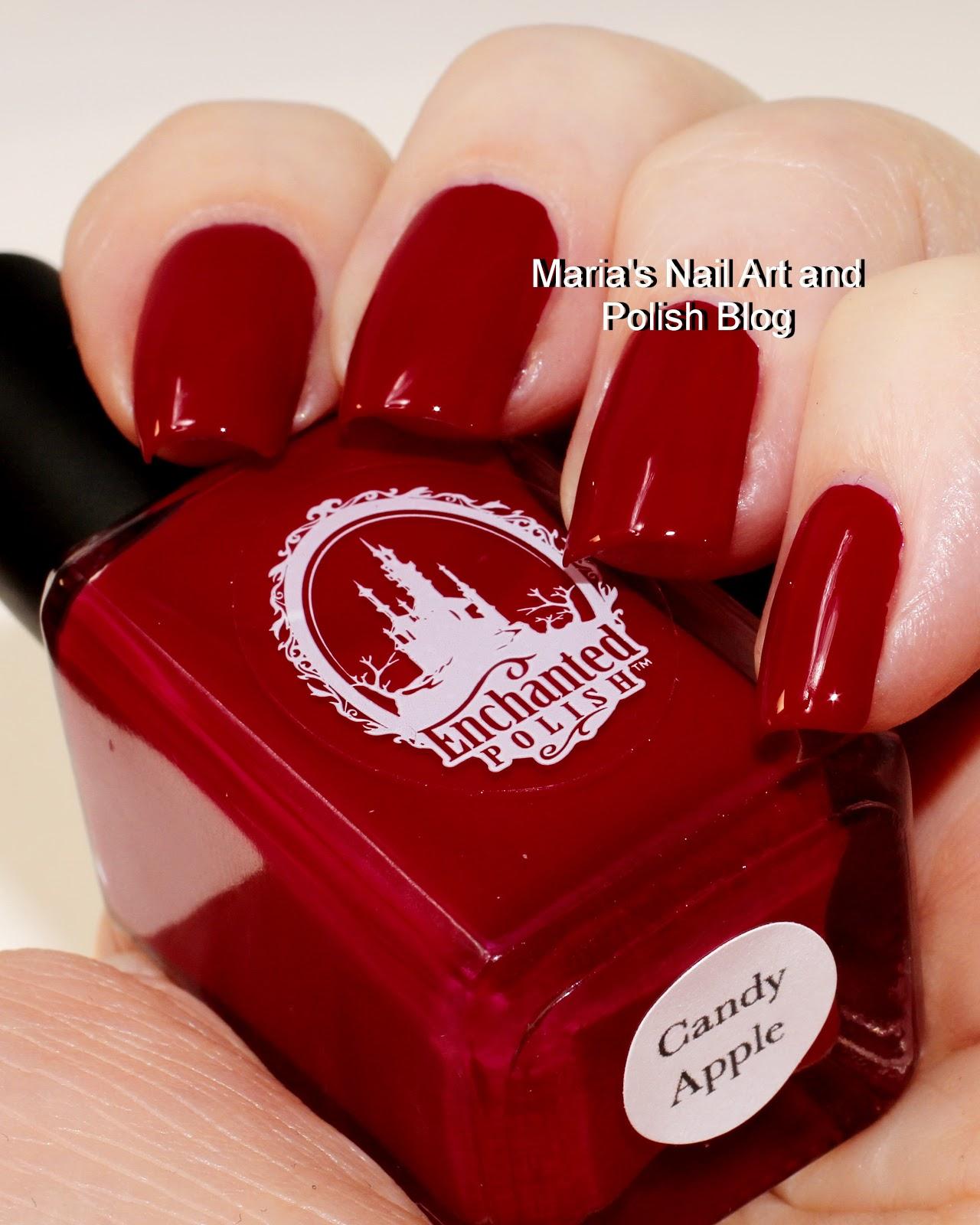 Marias Nail Art And Polish Blog Flushed With Stripes And: Marias Nail Art And Polish Blog: Enchanted Polish Candy